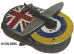 BATTLE OF BRITAIN Spitfire Belt Buckle + display stand